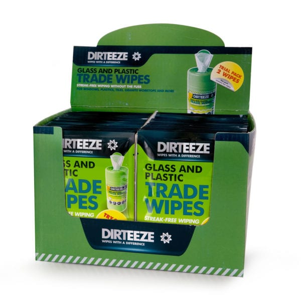 Glass & Plastic Trade Wipes Twin Pack Merchandiser
