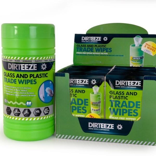 Glass & Plastic Wipes Range