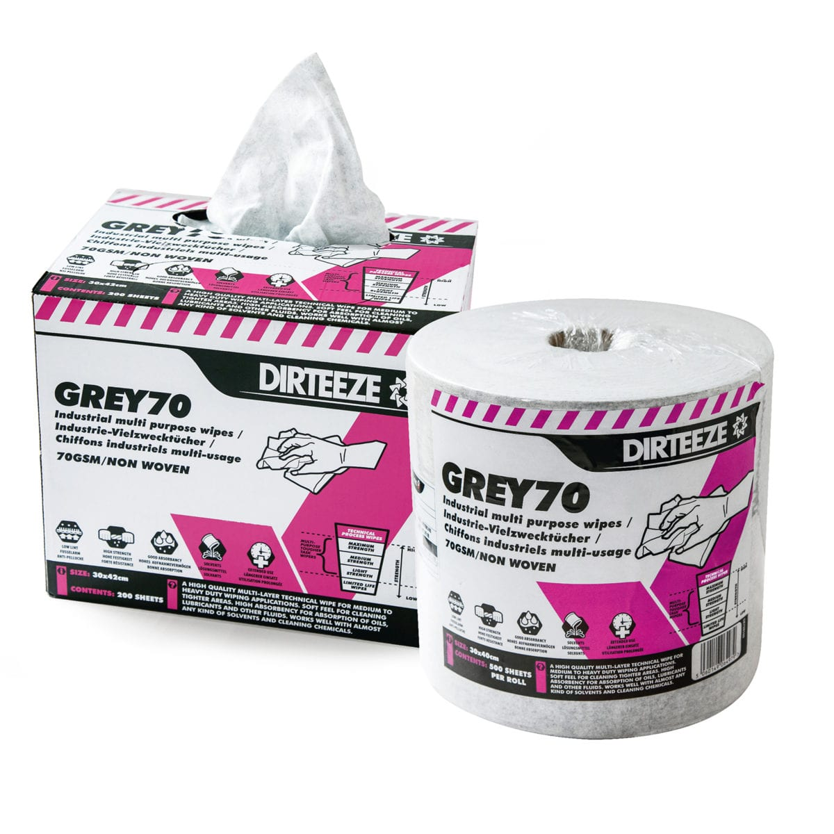 Grey70 Industrial Wipes Range