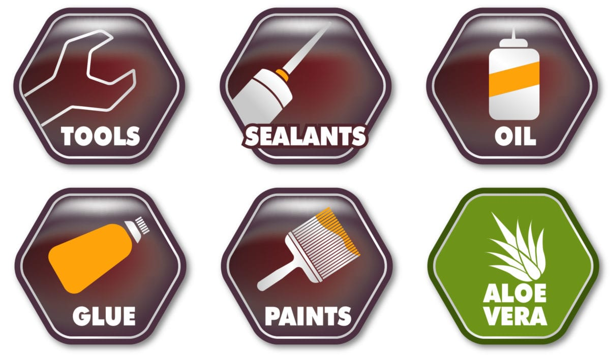 Icons showing use and properties of Dirteeze Smooth & String Trade Wipes