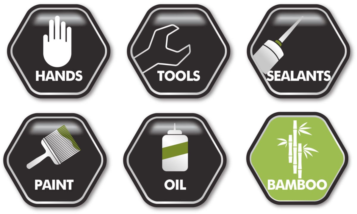 Icons showing use and properties of Dirteeze Trademate Wipes