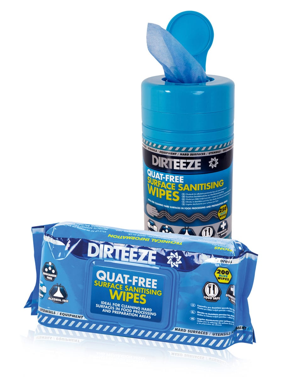 Quat-free Sanitising Wipes Range