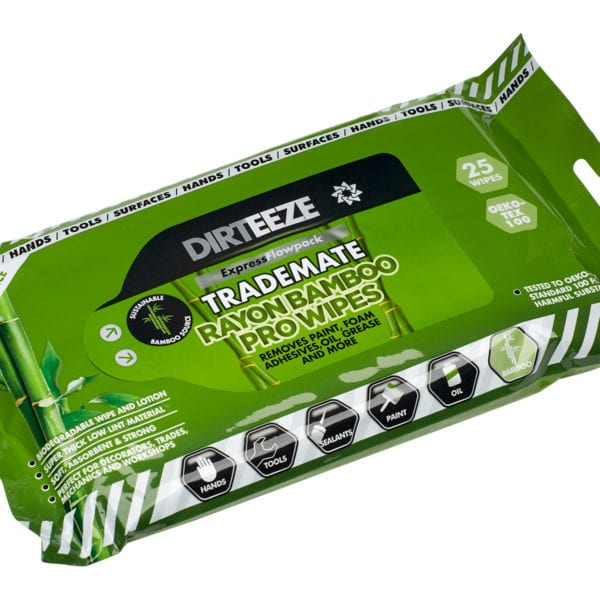 Flowpack og industrial Rayon Bamboo Pro Wipes