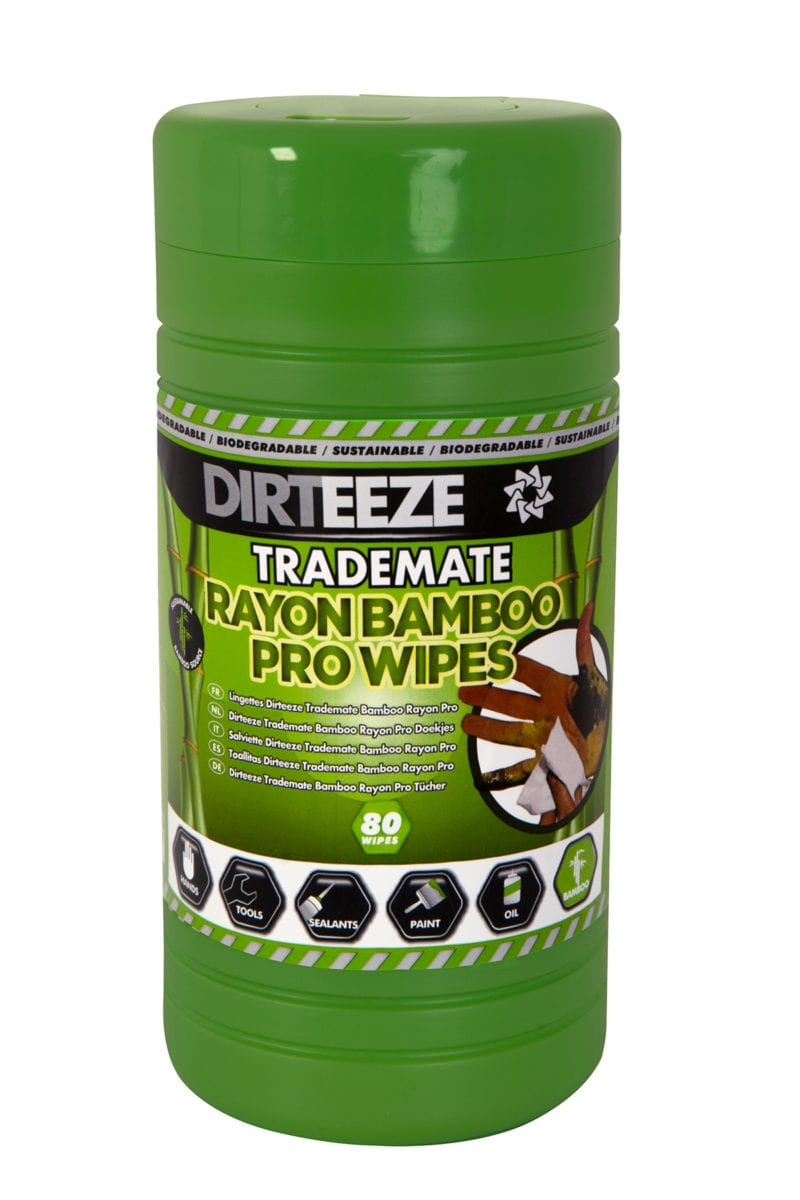 Tub of Trademate Rayon Bamboo Pro Wipes